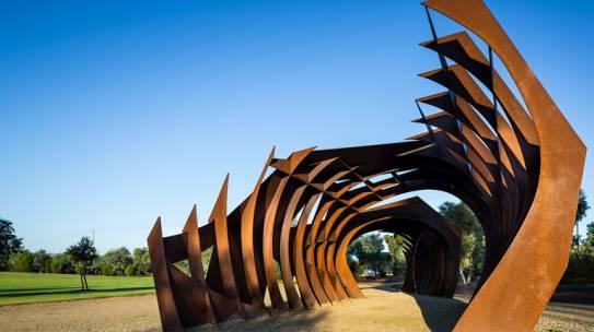 Narnungga Park Sculpture of a Conceptual Park Shelter